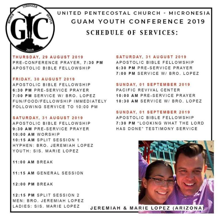 2019 Guam UPCI Youth Conference