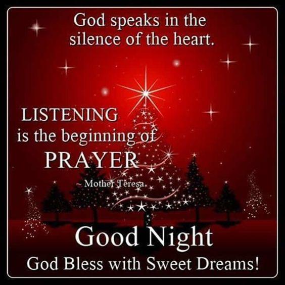 Good night Christmas Winter